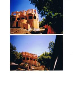 a Kensington House under construction, Berkeley Hills, CA 2001