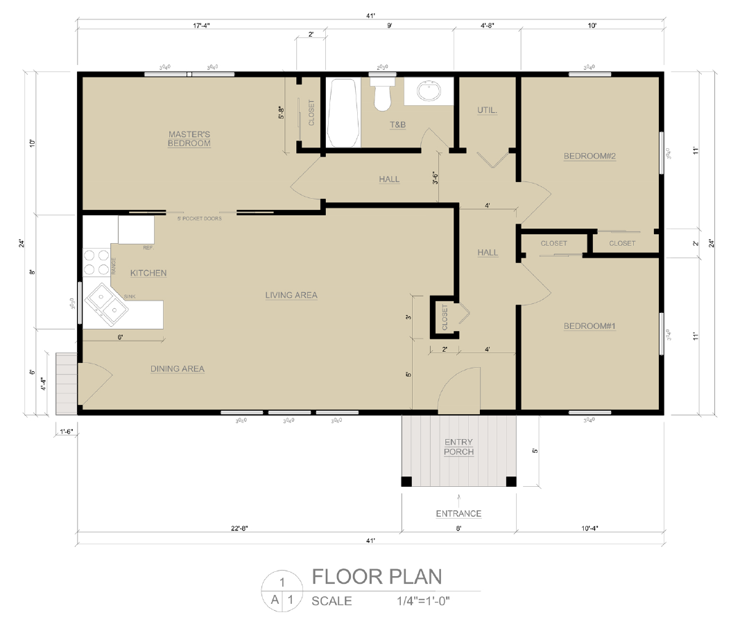 Easybuildingplans ready to use building plans for Accessory dwelling unit floor plans