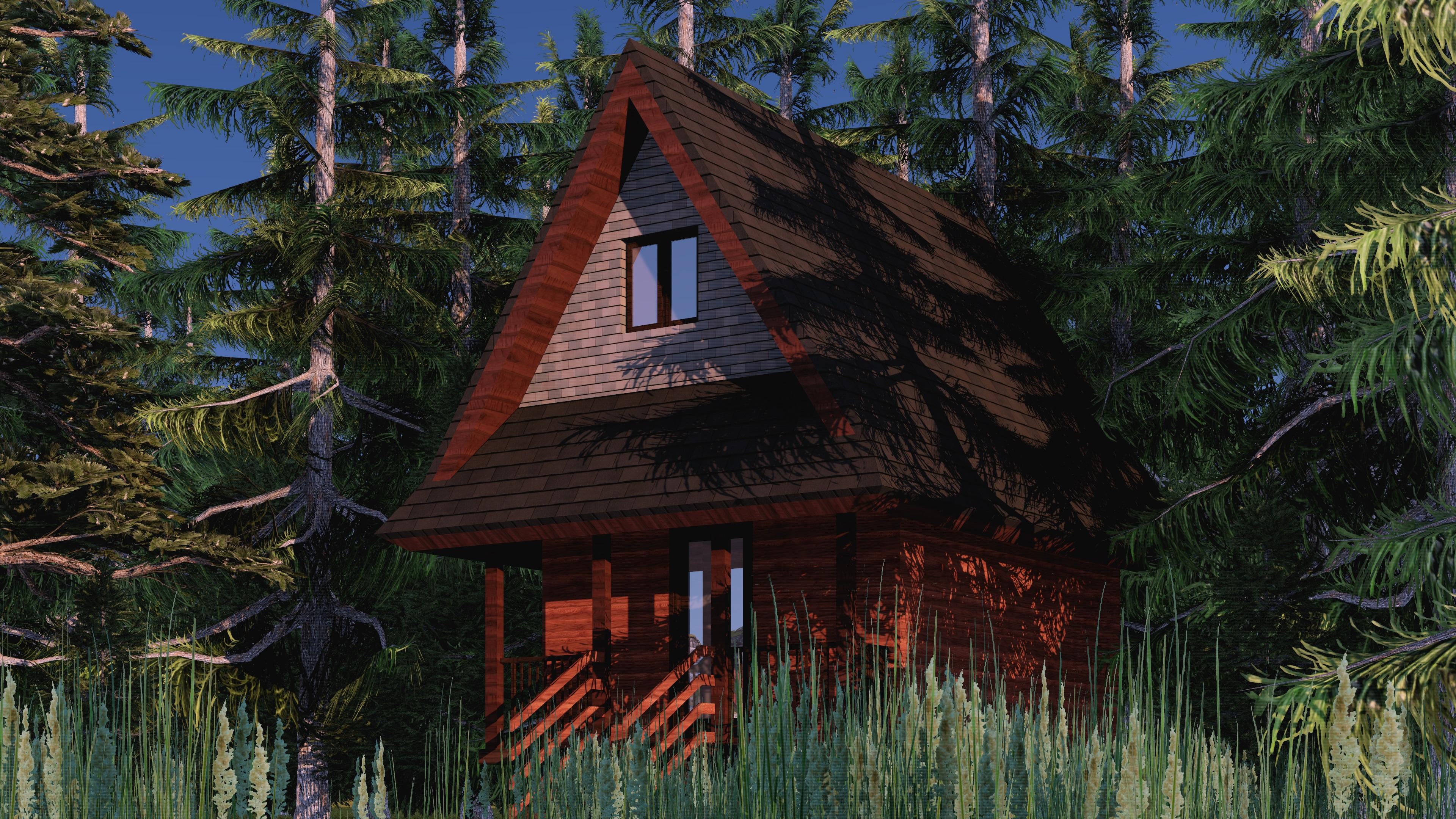 Remote stealth cabin easybuildingplans for Remote cabin plans