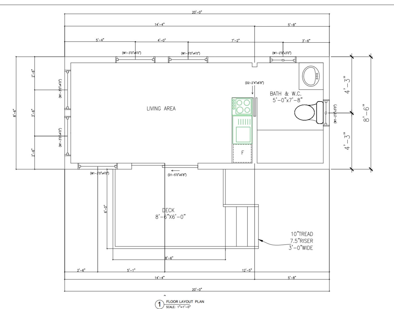 Basic Tiny House Floor Plan