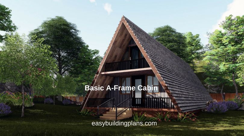Basic a frame cabin easybuildingplans for Small a frame home plans