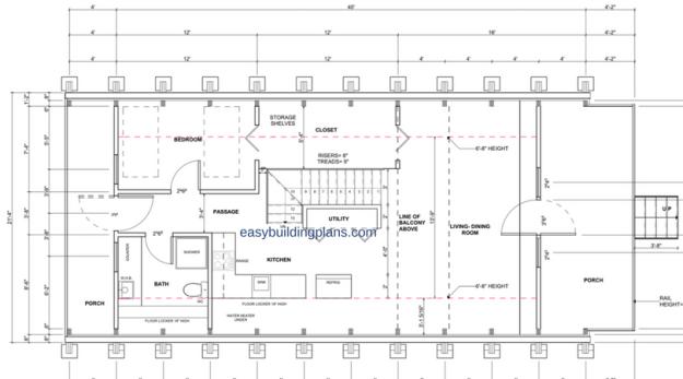 Basic A-Frame first floor