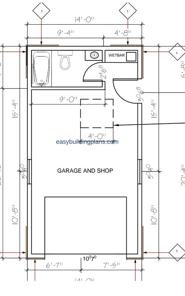micro coach house first floor - Coach House Floor Plans